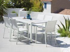 Mesa extensible rectangular en HPL para jardín TICAO by Les jardins