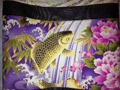 Purple pond gold koi handmade totebag OC High School of the Arts OShop