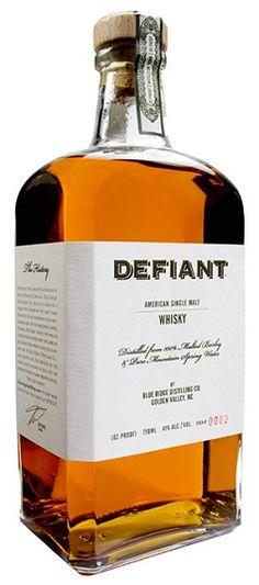 Defiant Whisky, Blue Ridge Distilling -- North Carolina