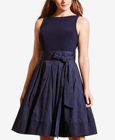 Lauren Ralph Lauren Plus Size Yuko Taffeta Dress