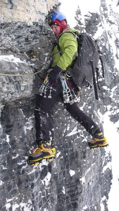 Some very dicey mixed alpine climbing.