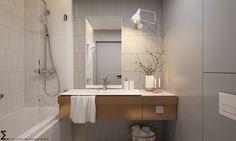 Apartament Praska Park - Mała łazienka w bloku bez okna, styl skandynawski - zdjęcie od ELEMENTY