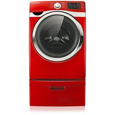 My New Washer!!! SAMSUNG WF435ATGJRA 5 cu.ft King-Size Capacity Front-Load Washer (Tango Red) the colour wasn't my 1st choice but I got an Amazing deal & free pedestals..so I will make the tango red work :-) SO excited to get my laundry room upstairs!!!!! Been waiting for SO many years