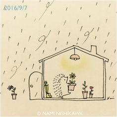 963 台風来るからみんなお家に入って A typhoon is coming tomorrow. Please come in, flowers.