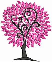 Pink Tree machine embroidery design from embroiderydesigns.com Stitch Witchery, Pink Trees, Spring Tree, Spring Design, Aesthetic Iphone Wallpaper, Machine Embroidery Designs, Patterns, Block Prints, Pattern
