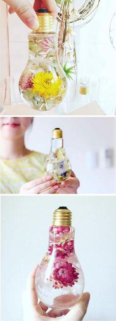 Light bulb vase | unique vases | light bulb planter