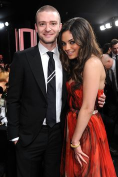 Pin for Later: Memorable SAG Awards Snaps to Get You Excited For the Show Justin Timberlake and Mila Kunis shared a sweet moment during the 2011 show. Hooray For Hollywood, Hollywood Stars, Celebrity Couples, Celebrity Style, Melissa Leo, Jennifer Aniston Style, Sag Awards, Movie Couples, Mila Kunis