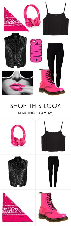 """""""Jordyn jones look"""" by yaretzi-garcia ❤ liked on Polyvore featuring Beats by Dr. Dre, Monki, VIPARO, American Vintage, NLY Accessories, Dr. Martens, Originalis Factory, women's clothing, women's fashion and women"""