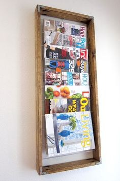 DIY Magazine Rack -great idea! I'm totally going to make this!