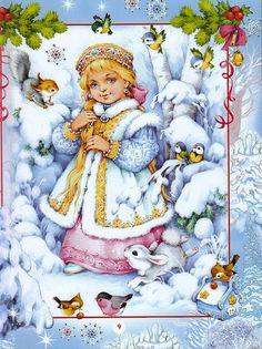 Новогодние иллюстрации Марины Федотовой. Обсуждение на LiveInternet - Российский Сервис Онлайн-Дневников