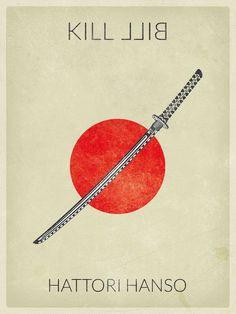 Kill Bill: Vol. 1 ~ Minimal Movie Poster by Baydle Creative Kill Bill: Vol. Minimal Movie Posters, Minimal Poster, Cinema Posters, Tarantino Films, Quentin Tarantino, Movie Poster Art, Poster S, Beau Film, Poster Design