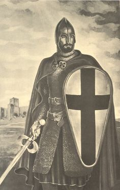 """King Afonso Henriques (1109 /1185), nicknamed """"the Conqueror"""" He achieved the independence of the southern part of the Kingdom of Galicia, the County of Portugal, from Galicia's overlord, the King of León, in 1139, establishing a new kingdom and doubling its area with the Reconquista, an objective that he pursued until his death, in 1185, after forty-six years of wars against the Moors."""