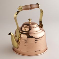 Hammered Copper Tea Kettle - soooo beautiful, but sadly not the whistling kind.