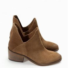 Women Spring Autumn Thick Mid Heel Genuine Leather Round Toe 2015 New Arrival Fashion Martin Ankle Boots Size Shoe Boots, Ankle Boots, Shoe Bag, Zara Shoes, Zara Women, Womens Flats, Chelsea Boots, Fashion Shoes, Heels