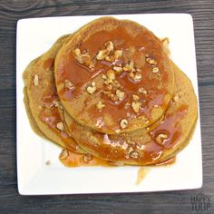 Pumpkin Pancakes with Pumpkin Syrup // The Happy Tulip