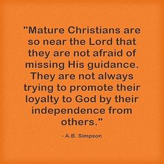 Mature Christians are so near the Lord that. Numbers 23 19, Christian Quotes About Life, Luke 9, The Son Of Man, Peaceful Life, Live Happy, Some Quotes, Christianity, Lord