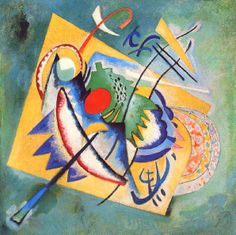 Wassily Kandinsky. Love the big yellow shape in the back.
