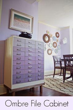 Chalkpaint Ombre File Cabinet www.ciburbanity.com