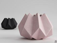 Folded Vase 3D model ( designer Amanda Betz) is available here: 3docean.net/item/folded-vase/13277279