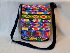 Guatemala  Handmade Padded Tablet Messenger Bag by PIDcrafts