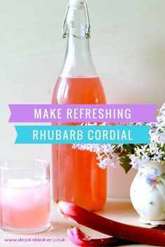 Rhubarb Cordial Recipe - Easy and refreshing rhubarb cordial. Serve with still or sparkling water or maybe add to a cheeky prosecco. abookishbaker.co.uk