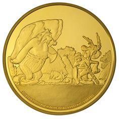 Moneda de oro Francia 100 euros 2013. Asterix y Los Galos.