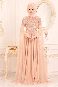 Indian Gowns Dresses, Unique Prom Dresses, Bridal Dresses, Girls Dresses, Flower Girl Dresses, Beige Evening Dresses, Hijab Fashion, Fashion Dresses, Moslem Fashion