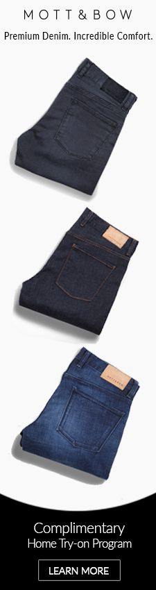 Ridiculously comfortable, premium handcrafted jeans. See our website for our free home try-on program. #PremiumJeans