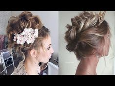 Beautiful hairstyle for bride design by Ulyana Aster - YouTube
