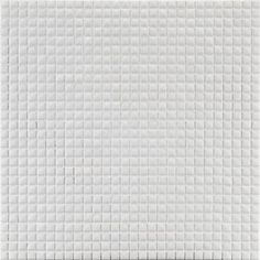 """3/8"""" stacked mosaic in white"""