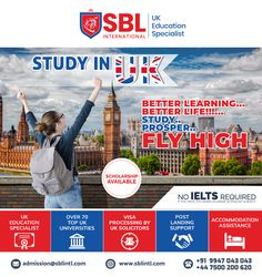 SBL International is the Best Overseas Education Consultant in Calicut. We offers you the Best Study in UK programs for International Students all over the world. We assist the students in their Study Abroad dreams along with delivering quality. Overseas Education, Ielts, Study Abroad, Better Life, All Over The World, University, Wellness, Student, Learning