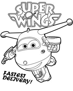 Free Super Wings coloring pages for children Airplane Coloring Pages, Minion Coloring Pages, Transformers Coloring Pages, Cars Coloring Pages, Free Coloring Sheets, Coloring Pages For Boys, Printable Coloring Pages, Coloring Books, Paper Model Car