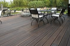 MOSO Bamboo X-treme is a solid, high density bamboo decking board with a distinct tropical hardwood look, made from compressed strips from the fast growing giant bamboo species MOSO. Bamboo X-treme is very suitable fo. Decking Planks, Bamboo Decking, Outdoor Decking, Decks, Giant Bamboo, Bamboo Species, Bamboo Panels, Moso Bamboo, Outdoor Tables