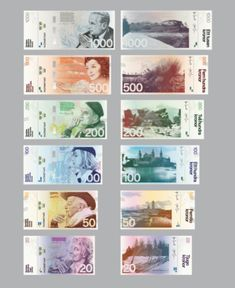 New concept for Swedish money. So much more creative than the dollar. And more valuable too....grrrr