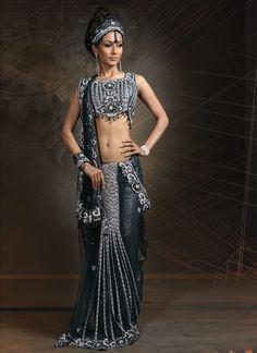 1920 inspired sari