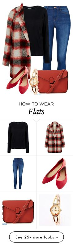 """Fall Red Fashion 2015"" by myfriendshop on Polyvore featuring Pink Tartan, Madewell and Wet Seal"