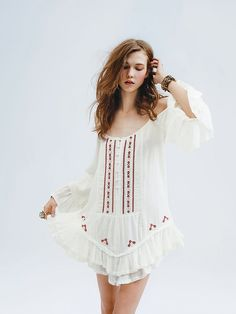 Free People FP ONE Embroidered Flamenco Dress at Free People Clothing Boutique