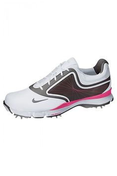 Loving that hint of pink on these Nike Golf Shoes : Women's Nike Lunar Links III Golf Shoe - 3 Colors - N-552076 | PinksandGreens.com FAVORITES SO FAR!!!!