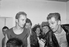 Joe Strummer and Paul Simonon - The Clash.