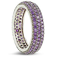 Shining purple amethyst and white gold Purple Amethyst, Favorite Color, Gold Rings, White Gold, Jewels, Colour, Diamond, My Style, Bracelets
