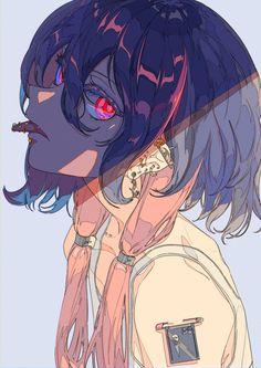 Anime Art Girl, Manga Art, Persona Anime, Ange Demon, Arte Cyberpunk, Cute Art Styles, Art Et Illustration, Anime Poses, Anime Artwork
