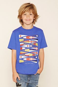 Forever 21 Boys - A knit tee featuring a multi-flag graphic, a round neckline, and short sleeves. Boys Long Hairstyles Kids, Boy Haircuts Long, Trendy Mens Haircuts, Shaggy Haircuts, Funky Hairstyles, Formal Hairstyles, Modern Haircuts, Hairstyles Men, Long Hair For Boys
