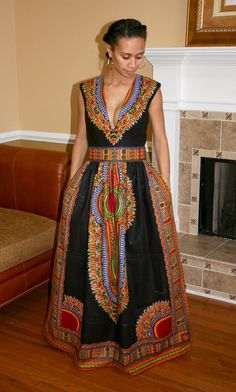 african fashion ankara Dashiki Maxi Dress by MelangeMode on Etsy African Party Dresses, African Wedding Dress, African Print Dresses, African Prints, Wedding Dresses, African Fashion Ankara, African Inspired Fashion, African Print Fashion, Nigerian Fashion