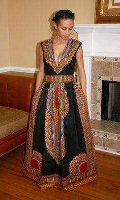 Dashiki Maxi Dress by MelangeMode on Etsy More