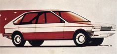 Simca 1500 Prototype Sketch