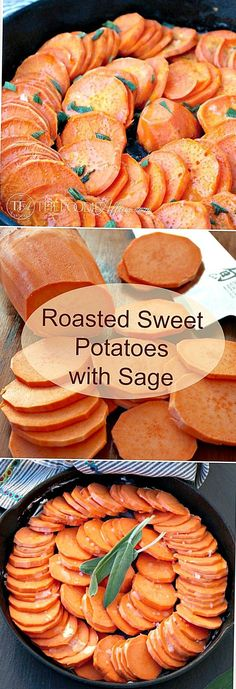 This simple roasted sweet potato recipe is an easy side dish for your Autumn and holiday menus. Side Dishes Easy, Vegetable Side Dishes, Side Dish Recipes, Vegetable Recipes, Veggie Meals, Main Dishes, Vegetarian Recipes, Thanksgiving Recipes, Fall Recipes
