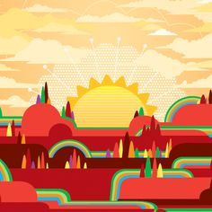 40 Stunning Vector Landscape Illustrations - Tuts+ Design & Illustration Article