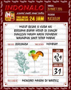 Prediksi Togel Online Live Draw 4D Indonalo Mataram 26 Maret 2016