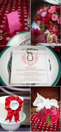 Kentucky Derby Wedding Photo Shoot by Greg Blomberg Photography + The Left Handed Calligrapher | Style Me Pretty