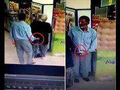رجل ساخن ومكبوت يتحرش بإمرأة بمكان التسوق بإخراج قضيبه لها ووضع يده في م...